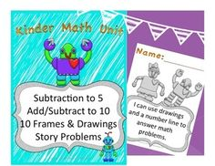 """Workbook materials for intervention, Pre-K or Kindergarten math skills. Easy to use! *Introduce Subtraction Skills*Use of ten frames and drawings to solve problems*Story Problems using Addition AND Subtraction*Complete with """"I Can"""" statement Workbook CoverTo teach other Kindergarten Math skills, Checkout my 2 Months of Kinder Math Lessons WorkbookEarning TPT CreditsDo you want credit for future TPT purchases?"""