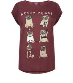 Inspire Burgundy Group Pugs T-Shirt