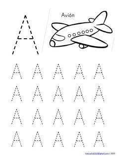 Alphabet in capital letters with drawings Preschool Writing, Numbers Preschool, Preschool Learning Activities, Alphabet Activities, Handwriting Worksheets For Kids, Alphabet Tracing Worksheets, Kids Math Worksheets, Tracing Letters, Free Images