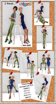 2 friends 1 stool | Flickr - Photo Sharing!