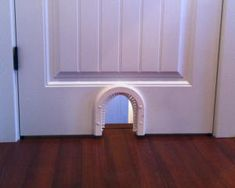 Cat door to laundry room - would cut down on heating/cooling bills because we could keep the door shut.