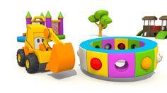 Cartoni animati per bambini: L'escavatore Max e gli animali della savana