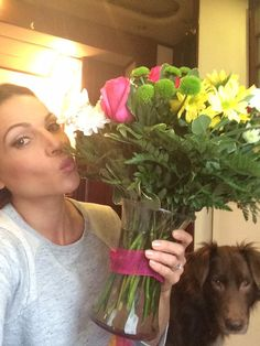 @MissStanwyck Thank you for the beautiful flowers and chocolates!! I love them both! You're a sweetheart! Mwah! (Lana on twitter).