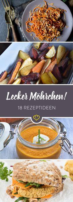 Möhren die ganze Woche! Aus dem Ofen, als cremige Suppe, knackigen Salat oder sündigen Wochenend-Kuchen - wir haben Möhren-Rezepte für jede Gelegenheit.