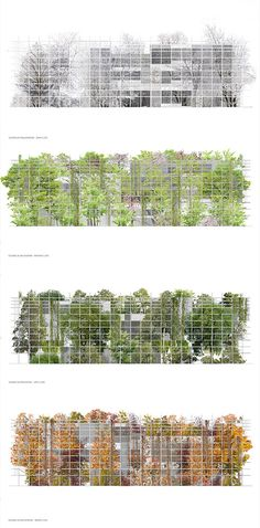 Gallery of Sustainable Proposal Envisions Krakow's New Science Center as a Tiered Garden 13 - Tiered garden, Social housing architecture, Green facade, Green architecture, Galleries architectur - Social Housing Architecture, Architecture Design, Architecture Graphics, Green Architecture, Facade Design, Concept Architecture, Sustainable Architecture, Landscape Architecture, Landscape Design
