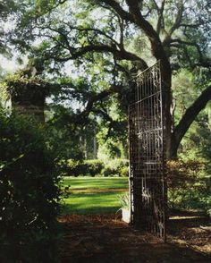 [love this tall rustic gate]