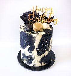 At River City Cakes we sell custom celebration cakes, cupcakes, cookies and baked goods Best Birthday Cake Designs, 21st Birthday Cake For Guys, 25th Birthday Cakes, Sweet 16 Birthday Cake, Bithday Cake, Elegant Birthday Cakes, Beautiful Birthday Cakes, City Cake, Drip Cakes