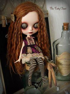 Veronica & Mr.Stitches Art doll by Tatty Closet custom OOAK blythe alpaca neemo