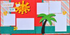 Soakin' up the Sun - 12x12 Scrapbook page kit