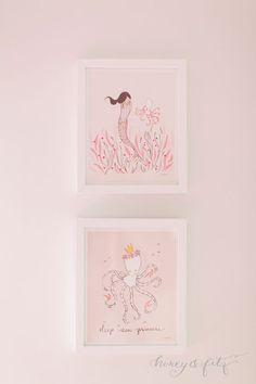 Project Nursery - A-Mermaid-Inspired-Big-Girl-Room-by-Honey-and-Fitz-Sarah-Jane-Mermaid-Prints