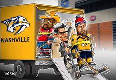Mega-Transaction PK Subban à Nashville, Shea Weber à Montreal! Montreal Canadiens, Shea Weber, Family Love, Ikon, Nashville, Hockey, Sports, Caricatures, Hs Sports
