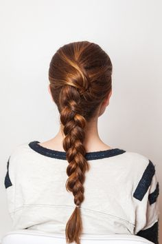 Achieve a twisted French braid with this 5-minute hair tutorial.