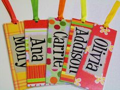 Personalized Bookmarks / Personalized Gifts / Classroom Gift / Gifts for Kids Reading Strategies on the back