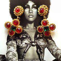 Vintage #ButlerandWilson earrings. #designerjewelry #costumejewelry #vintagejewelry #b #vintageaccessories #mdvii