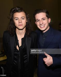 Recording artists Harry Styles (L) of One Direction and Charlie Puth attend the 2015 Billboard Music Awards at MGM Grand Garden Arena on May 17, 2015 in Las Vegas, Nevada.