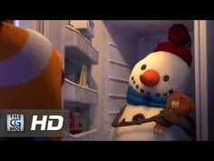 """Watch this beautiful and heartwarming short called """"Lily and the Snowman"""" featuring a lovable snowman and how he endures time to love a family! Pixar, Cgi 3d, Movie Talk, Film D'animation, Film Inspiration, Hair And Beard Styles, Tv Commercials, 3d Animation, Custom Labels"""