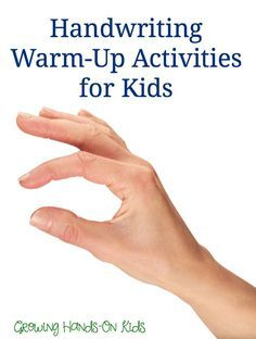 Shoulder and finger handwriting warm up activities for kids.