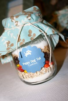 Frogs, Snails, and Puppy Dog Tails baby shower theme.