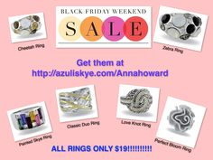 Get them before the sale ends! http://azuliskye.com/Annahoward