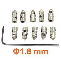 10pcs Pushrod Connectors Linkage Stoppers D2.1mm D1.8mm D1.3mm RC Model Plane Parts Replacement Remote Control Toys