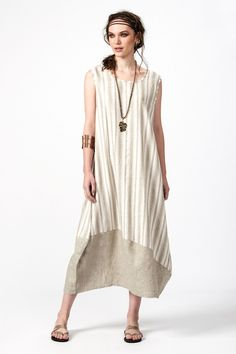 PLS fashion : Φόρεμα μακρύ ρίγα (4039Α) Linen Dresses, Summer, Outfits, Style, Swag, Summer Time, Suits, Kleding, Outfit