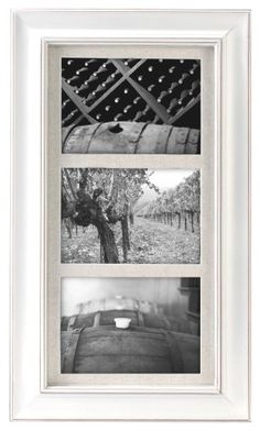 Malden International Designs Barnside Portrait Gallery 2 3 Opening 5x7 Textured Mat White Picture Frame ** Click image to review more details.
