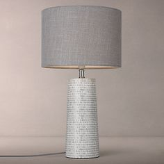 Buy John Lewis Minna Small Ceramic Cylinder Table Lamp, Grey Online At  Johnlewis.com