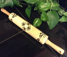Wood burned rolling pin wooden rolling pin wood by ScratchandBurn
