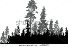 forest skyline sketch black - Google Search