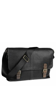 BOCONI Double Buckle Messenger Bag available at #Nordstrom