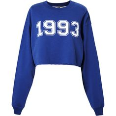 MSGM Collegiate Logo Sweater ($235) ❤ liked on Polyvore featuring tops, sweaters, shirts, sweatshirts, long sleeve cotton tops, blue shirt, long sleeve tops, long sleeve cotton shirt and cotton pullovers