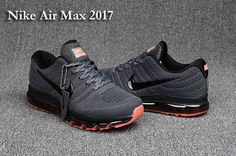 e25bfb081431 Nike Air Max 2017 Run Shoes Top Carbon Gray For Men Sneakers Nike