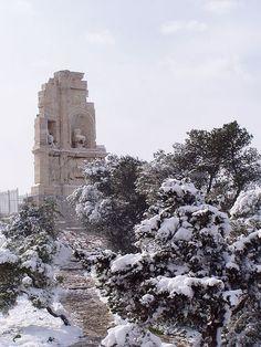 Snow on Philopappus by RobW_, via Flickr