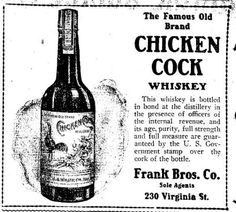 chicken cock whiskey ad - Daily Nevada State Journal - Dec 21 1906
