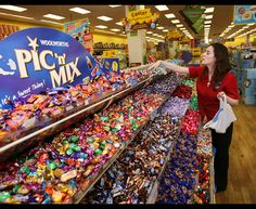 The pick 'n' mix section at Woolworths. 1980s Childhood, My Childhood Memories, The Good Old Days, Those Were The Days, 90s Nostalgia, Retro Recipes, Teenage Years, 90s Kids, Do You Remember