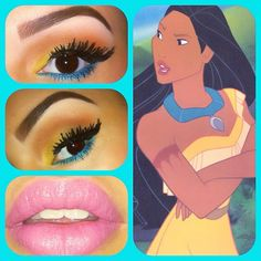 Decided to bring back my Disney themed makeup!! #pocahontas  #makeup #maccosmetics #lashes #disney #princess - @viva_glam_kay- #webstagram