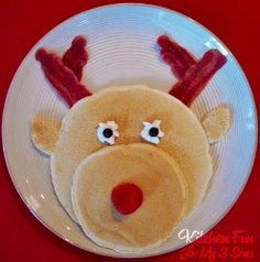 The Red-Nosed Pancake Pal is the perfect Christmas morning breakfast!