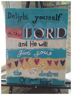 Delight in the LORD   by stephaniecherry on Etsy, $24.00
