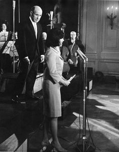 Jacqueline Kennedy introducing the Boston Symphony, circa 1962.
