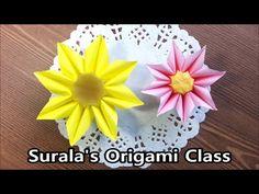 Origami Sunflower -Version 2 : : Girasol 2 - YouTube