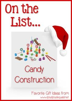Christmas Gift Ideas ~ Candy Construction Building Set  --- @{1plus1plus1} Carisa is sharing her top ten ideas from now until Christmas!