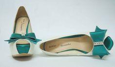 Zapatos de Novia, Rodrigo Hernández Color Ivory con Verde Búscanos en Facebook Rodrigo Hernandez
