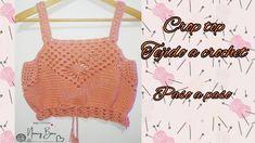 Crochet Clothes, Diy Clothes, Clothes For Women, Top Crop Tejido En Crochet, Crochet Top, Crop Top Pattern, Crochet Woman, Boho Tops, Crochet Bikini