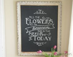 Chalkboard quote tutorial