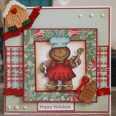 Gingerbread Man Wishes by TanyaS - Cards and Paper Crafts at Splitcoaststampers