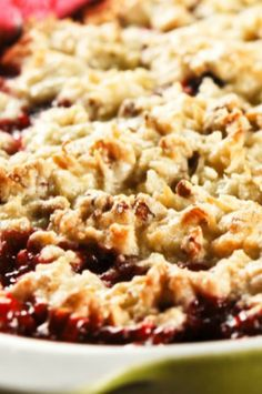 Blackberry Cobbler with a Pecan Coconut Cookie Topping--this is OMG delicious!!!