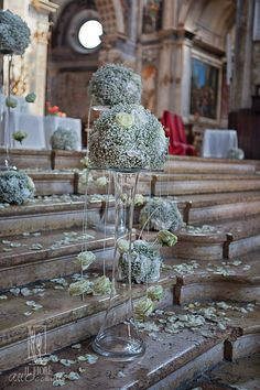 Il Fiore All'occhiello - Fiori, noleggio e allestimenti, per cerimonie, Wedding, location e partecipazioni - Gallery Gypsophila Wedding, Wedding Ceremony Flowers, Rose Wedding, Wedding Day, 21st Decorations, Ceremony Decorations, Flower Decorations, Wedding Arrangements, Wedding Centerpieces