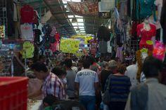 En Tepito hoy en día las calles han sido transformadas de banquetas a corredores comerciales en donde inclusiven techan con lámina o cualquier material para hacer la venta y compra más cómoda.