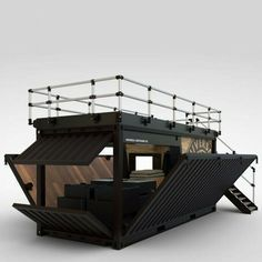 Details about Shipping Container Kiosk Cafe Coffee 160 sq. Cafe Shop Design, Kiosk Design, House Design, Signage Design, Shipping Container Restaurant, Shipping Container Homes, Shipping Containers, Shipping Container Buildings, Container Coffee Shop