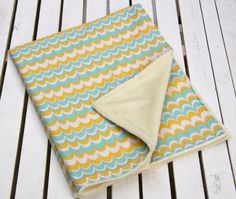 Adorable Cotton and Minky Mod Baby Blanket Travel by ChubbyLove, $25.00